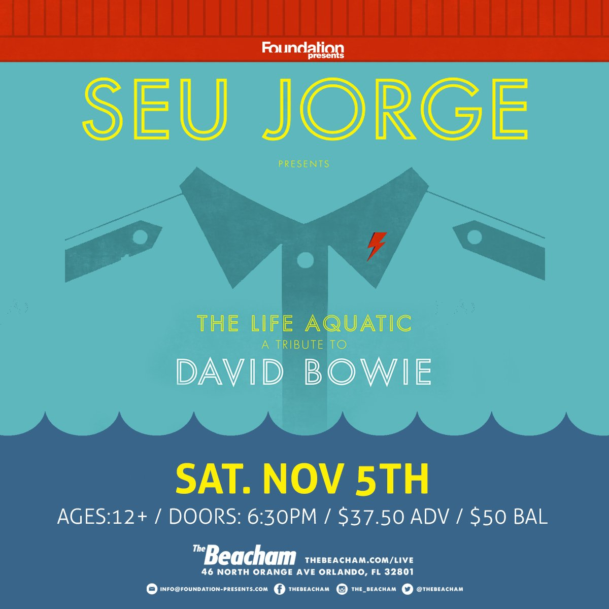 TICKET GIVEAWAY: RETWEET & WIN a pair of Seu Jorge tickets TOMORROW at The Beacham! https://t.co/A6IFggilTR https://t.co/Fz4U1zSg2i