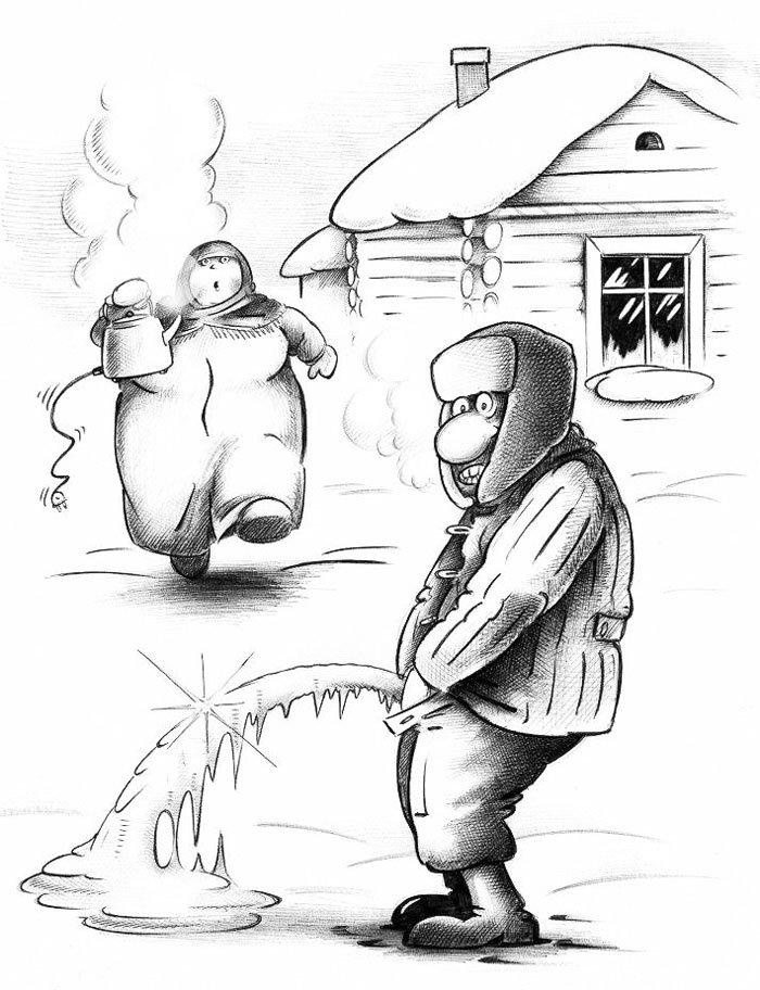 Картинка мороз прикольная, открытка поздравления днем