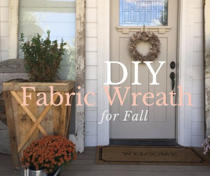 How to Make a DIY Fabric Wreath for Fall - fall wreath DIY fabric handmade