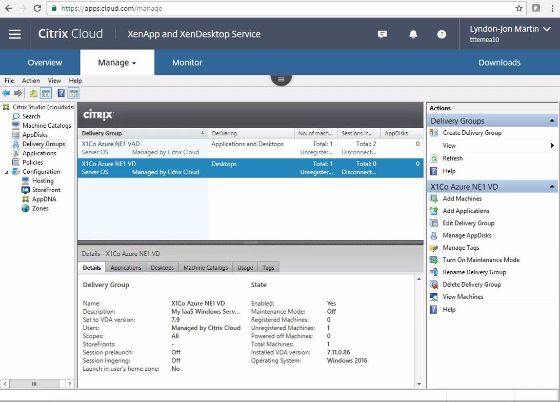 Deploying a Citrix Cloud – XenApp and XenDesktop Service PoC   A