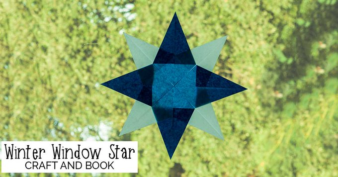 Simple Winter Window Star Tutorial kbnmoms diy craft homeeducation waldorf