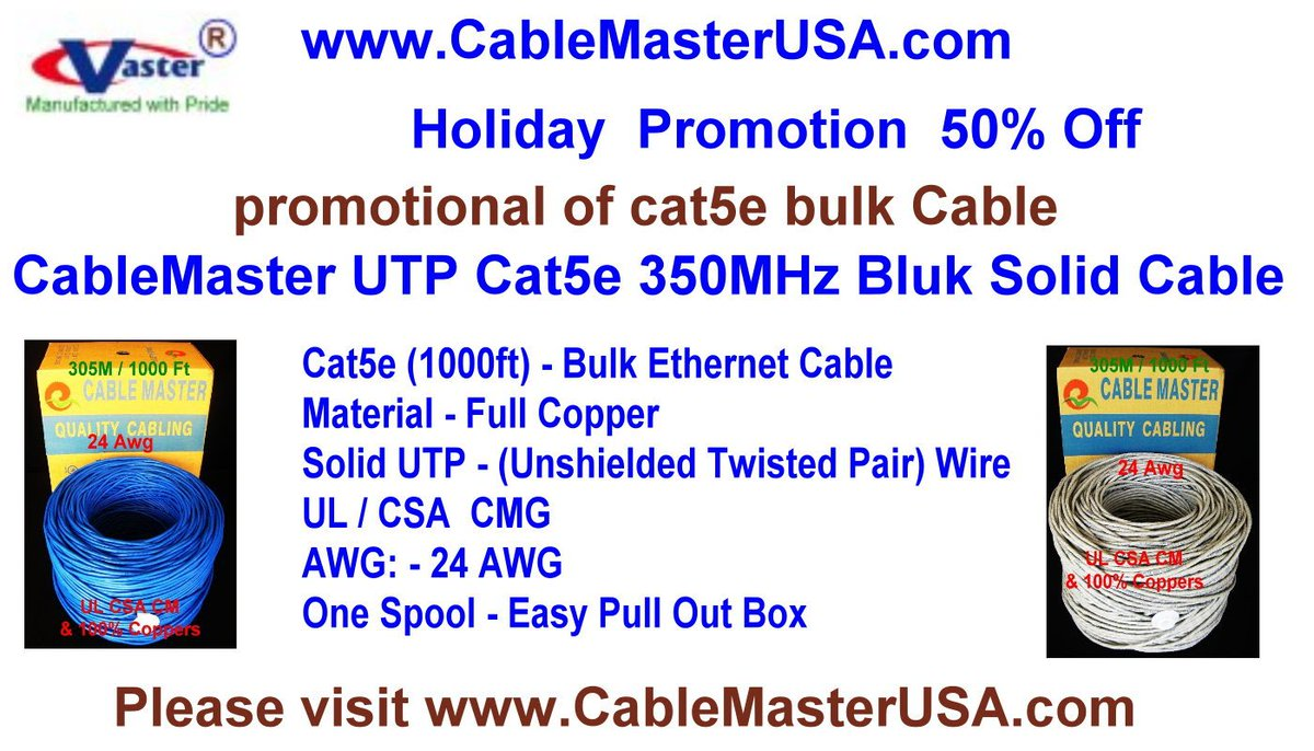 3 Ft Cat5e Ethernet Network Patch Cable UL 24Awg 100/% Copper Blue Color SuperEcable