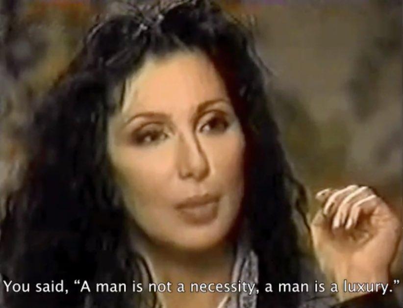 Cher being interviewed (1996)