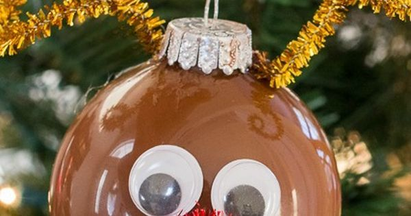 Just Pinned to Cubscouts: DIY Reindeer Ornaments DIY Ornament Christmasactivity