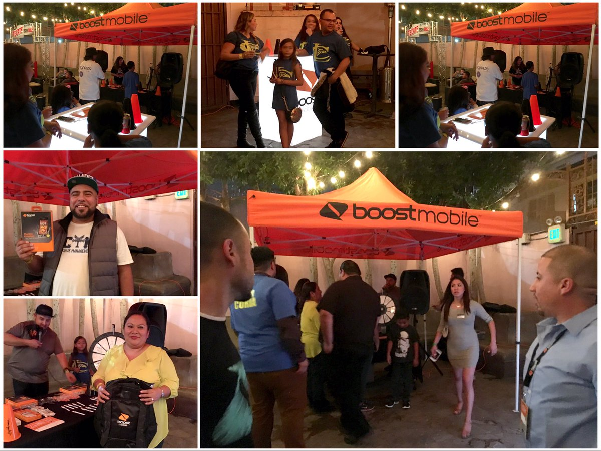 Lots of activity at the #BoostMobile booth tonight. Thanks to #GoldenBoyBoxing & #QueBuena  #WhereYouAtpic.twitter.com/Ictjh5E2BJ