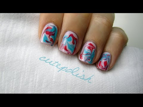 Water Marble Nails (without water!) CutePolish Beauty Nails -