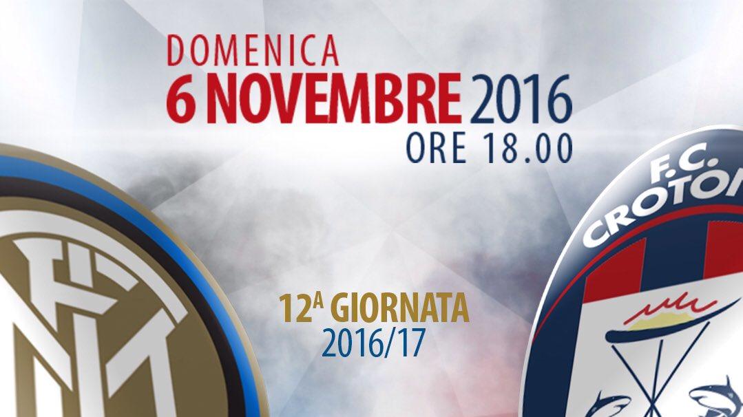 Serie A: Vedere INTER-CROTONE in Diretta Streaming con  Oggi alle 18