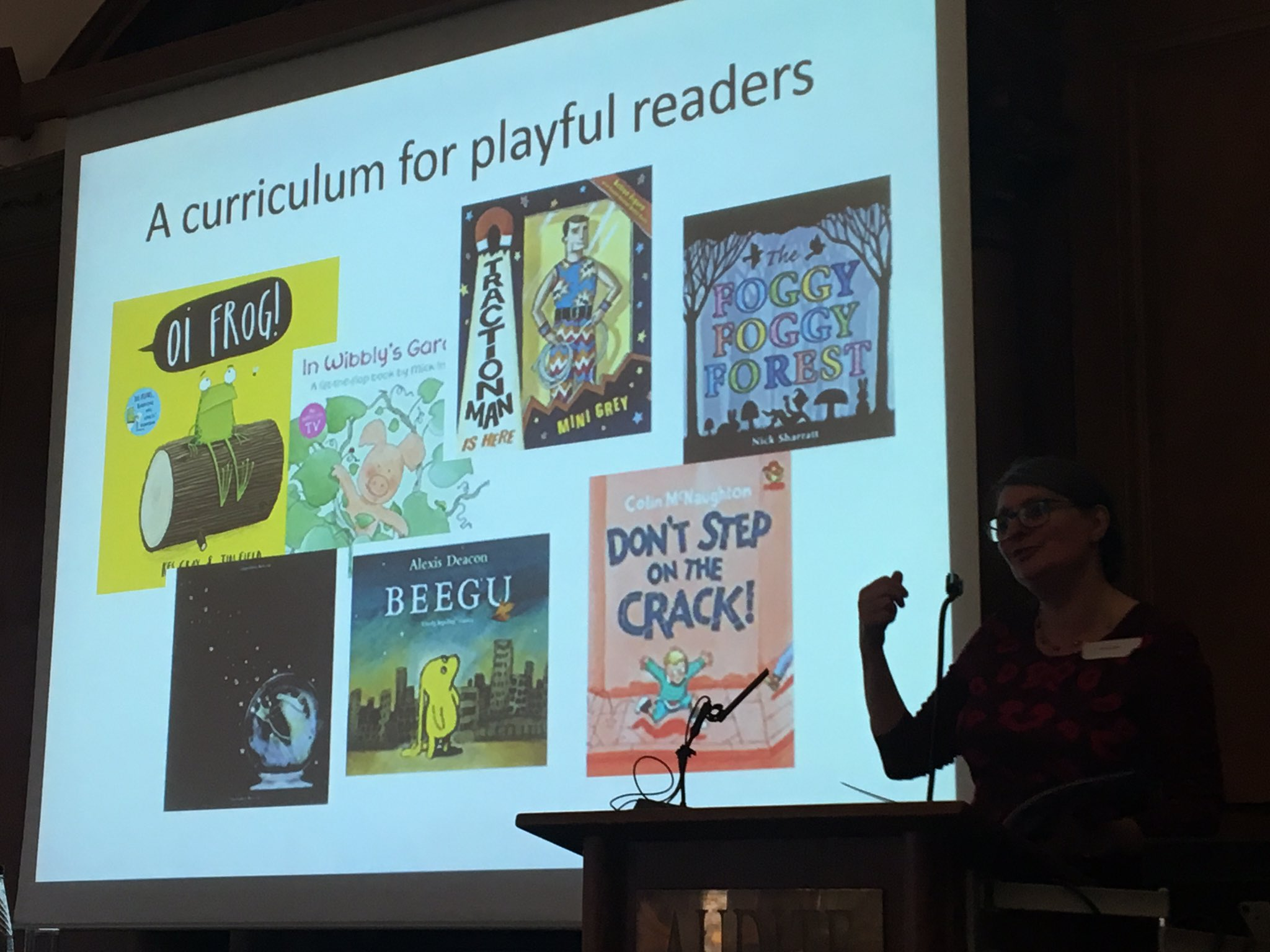 Vivienne Smith reading to us - a playful curriculum #IBBYPictures https://t.co/dMzlRHIcYX