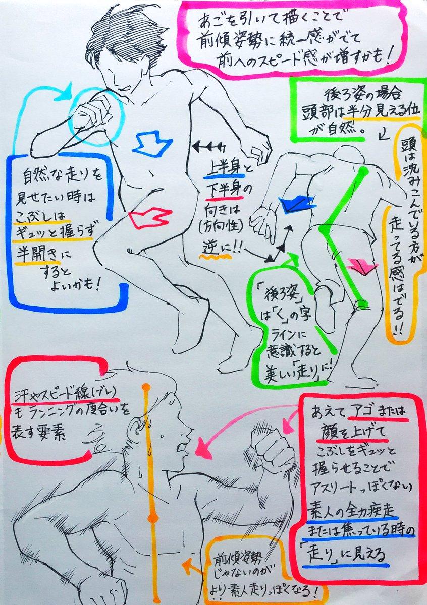 吉村拓也fanboxイラスト講座 On Twitter 走るポーズの描き方