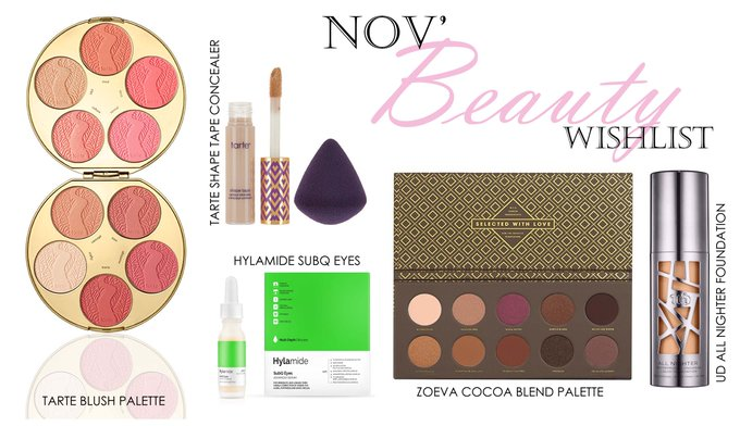 November beauty wishlist bbloggers FemaleBloggerRT