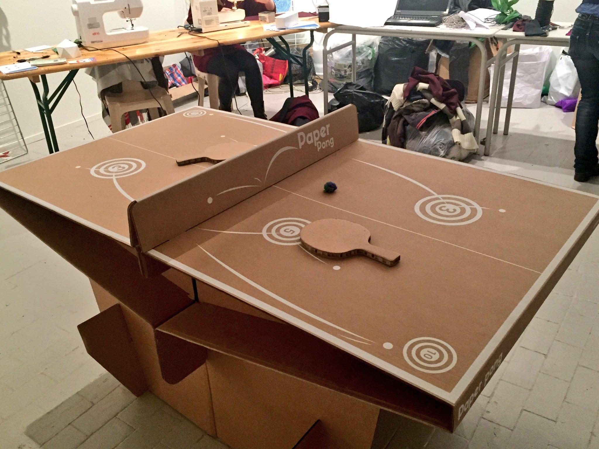 Florent derue on twitter sympa cette id e de table de ping pong pliable tout en carton - Table ping pong decathlon ...