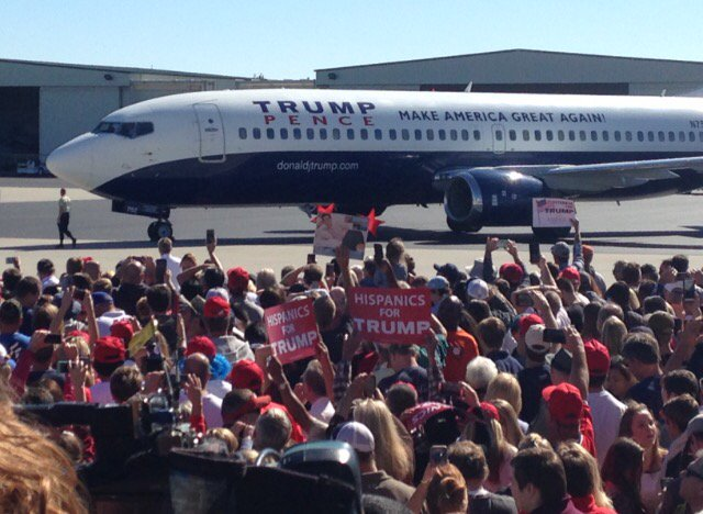He has arrived #TrumpILM