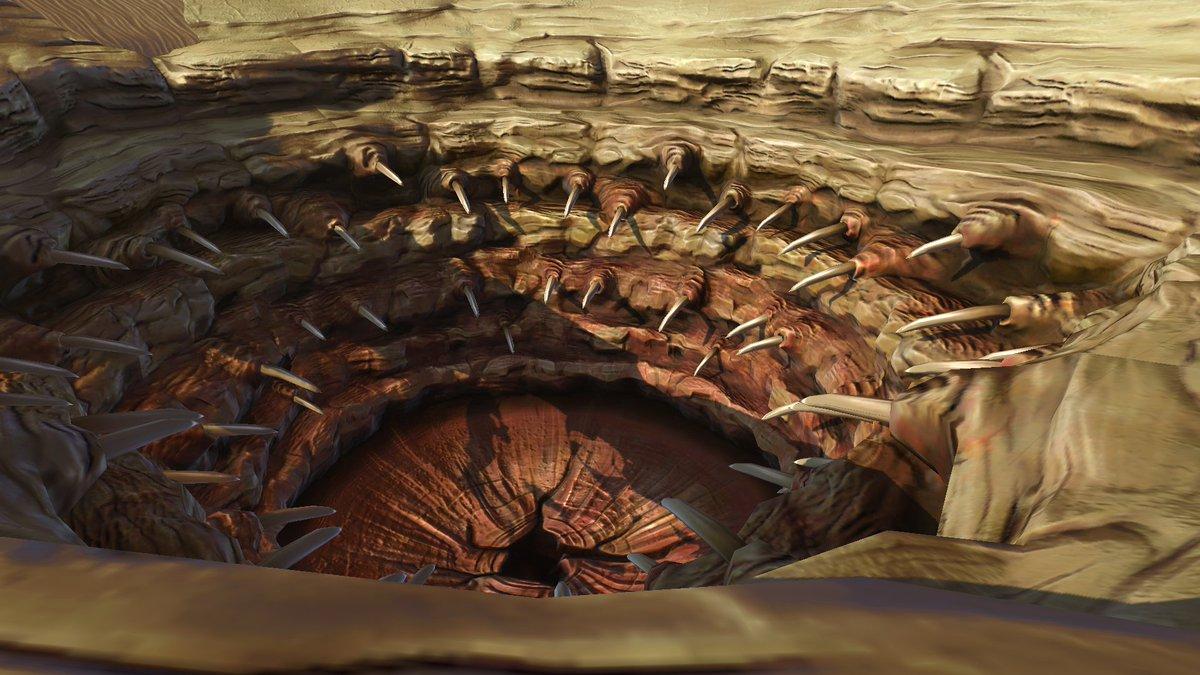 Sarlacc pit anatomy