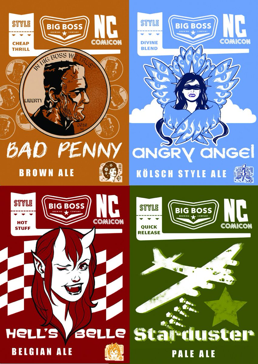 Very excited that @NC_Comicon had our beer labels re-imagined by comic artists! https://t.co/V9P6kvcAOq