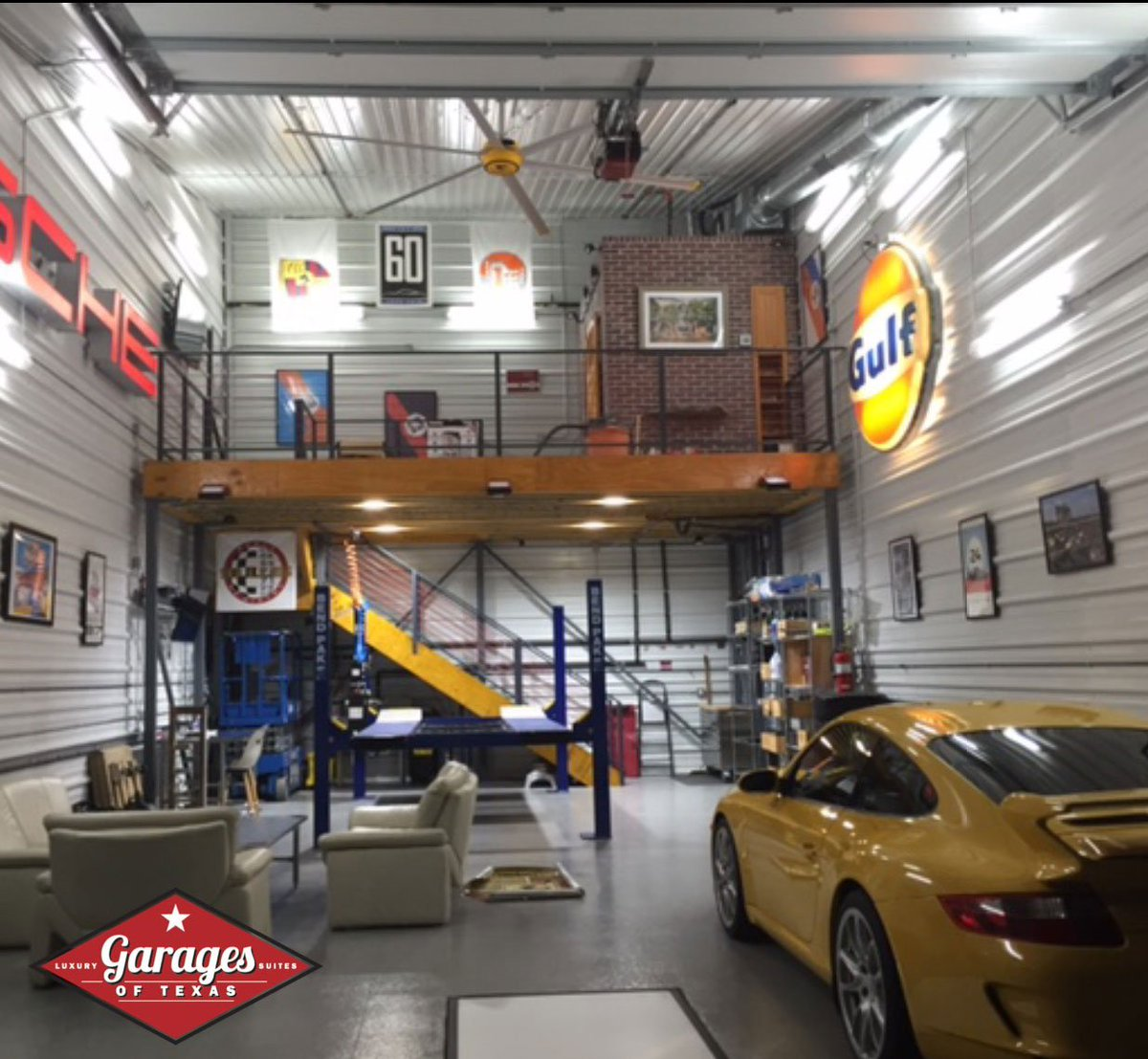 "Car Garage For Rent >> Garages of Texas on Twitter: ""Check out the #mezzanine ..."