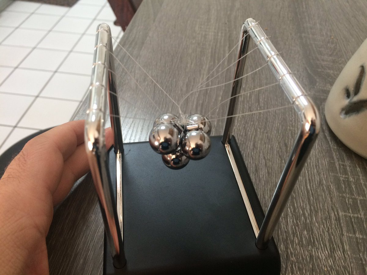 How to Untangle a Newtons Cradle