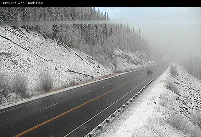 The view from wolf creek pass at 810 am via cdot cameras. looking ...
