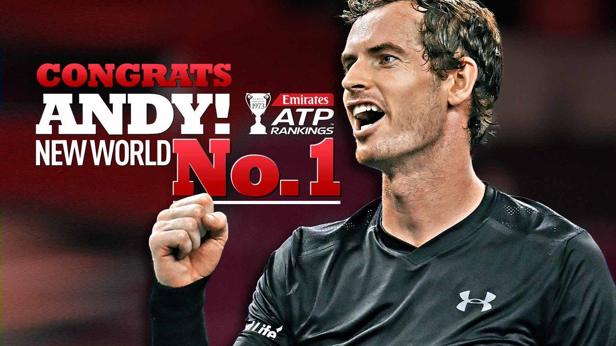 Andy Murray bude v pondělí novou světovou jedničkou