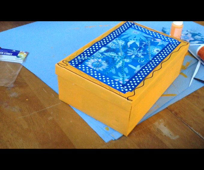 DIY Shoebox Treasure Box crafts diy