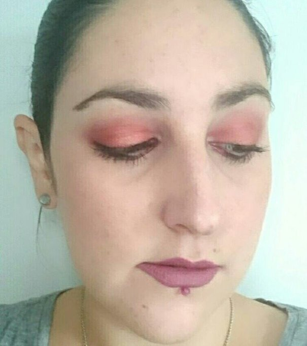Recent makeupoftheday -red eyes & mauve lips! bbloggers makeup beauty thegirlgang fotd