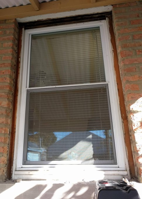 Exterior Window Casing in Brick Exterior DIY