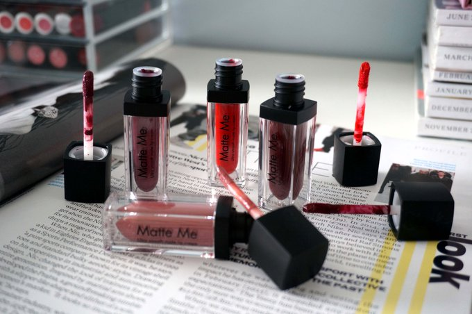 Sleek Matte Me lip collection review + giveaway fbloggers bbloggers FemaleBloggerRT