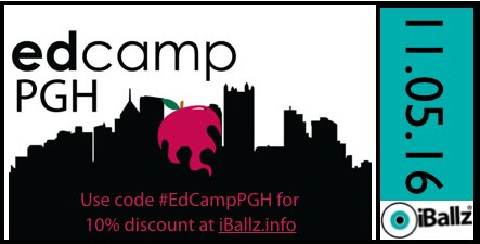 iBallz is proud to support a collaborative day of #edcamp learning today at #EdCampPGH.  Thanks to the organizers who make it happen! https://t.co/yScnM5v2FF