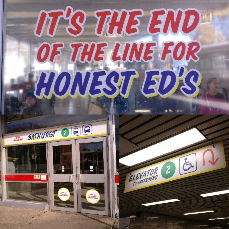This tribute to Honest Ed's at Bathurst station is GENIUS. #TTC #HonestEdStation https://t.co/HvhAjuLKFA