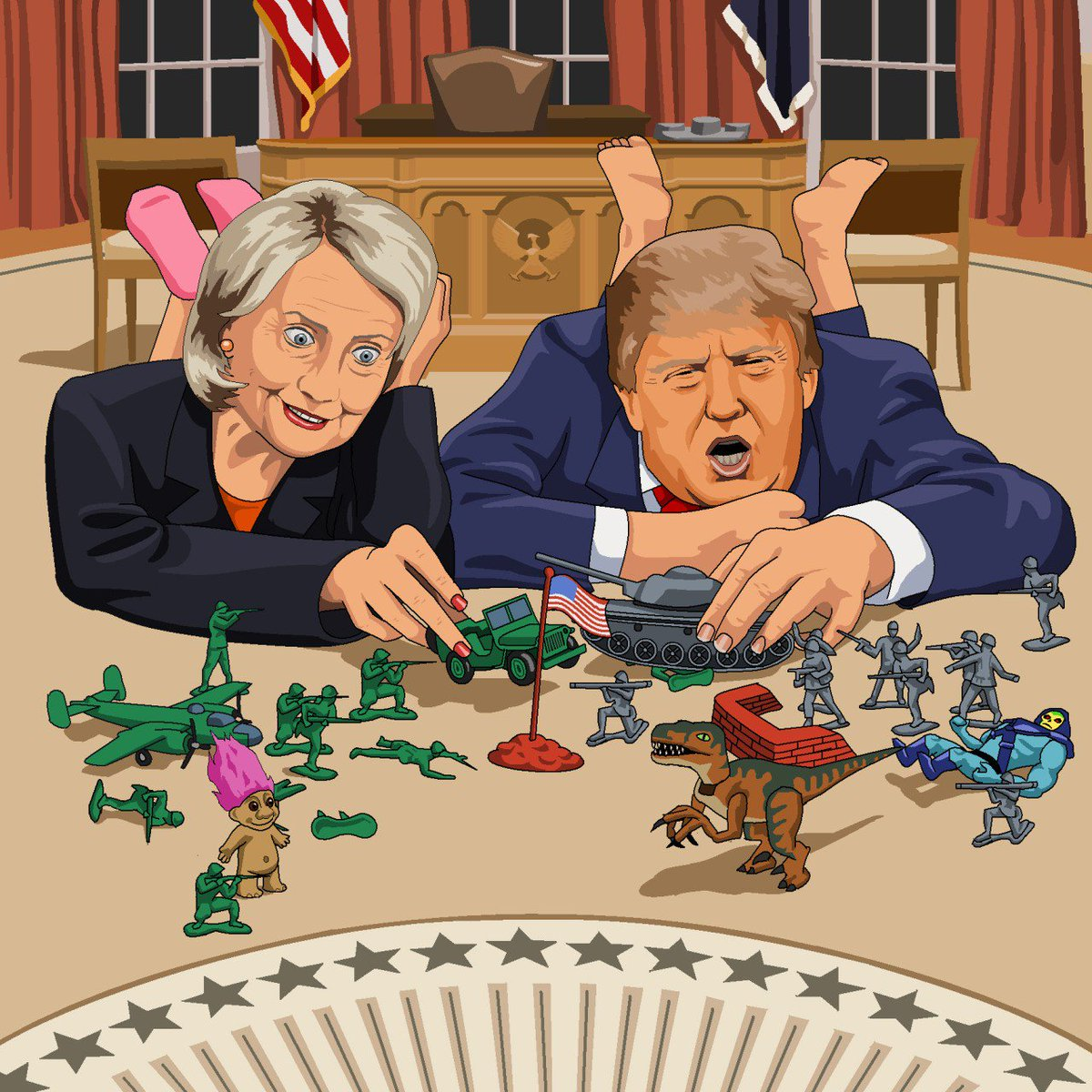 Image result for trump playing with toy soldiers