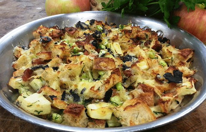 Looking for a stuffing ? How about delicious apple stuffing? ://