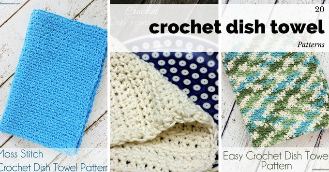 20 Free Crochet Dish Towel Patterns DIY crochet crafts