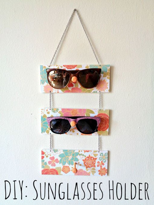 Keep your sunglasses handy with this DIY project!