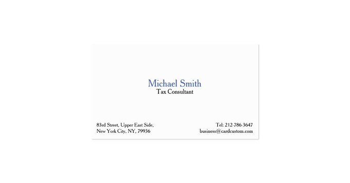 Gift Professional Plain Elegant Modern Business Card DIY