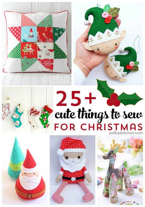 More than 25 Cute Things to Sew for Christmas bloglovin DIY crafts