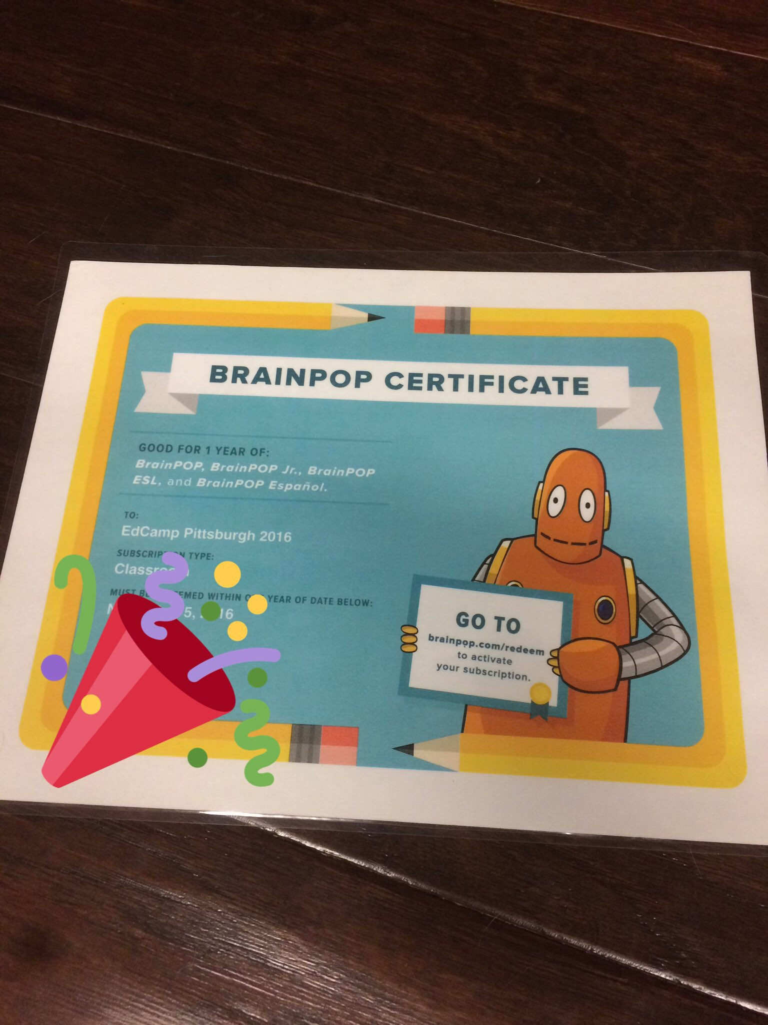 Thank you @brainpop and #EdCampPGH for expanding my collection of engaging standards-aligned resources for my students! Yay! https://t.co/Kr4f05NFfV