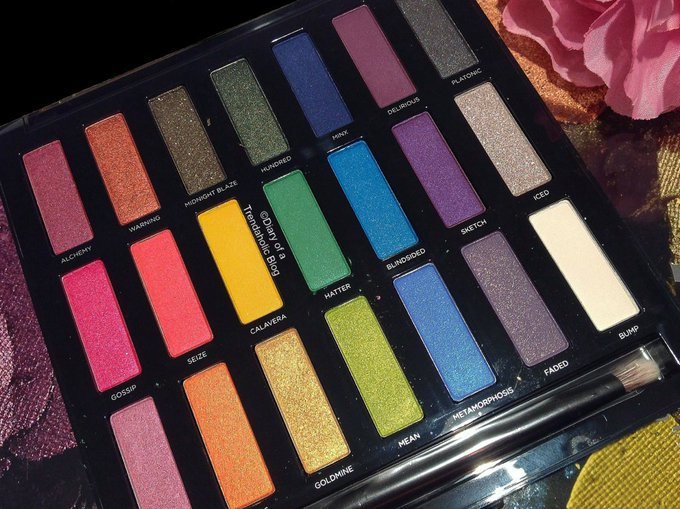 Review & swatches of the UrbanDecay FullSpectrum eyeshadow palette makeup beauty