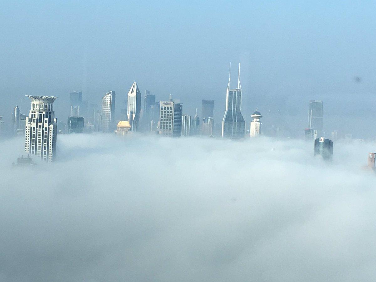 今朝の上海は雲海状態になってます。 https://t.co/hBlhD6K8k4