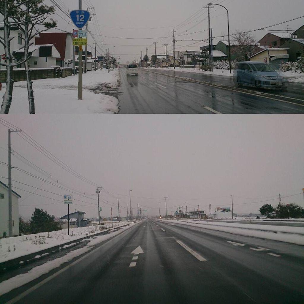 長い 道路 一 日本 直線
