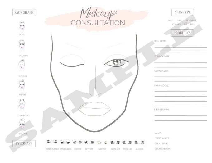Professional Face Chart makeup mua MOTD makeupartist beauty