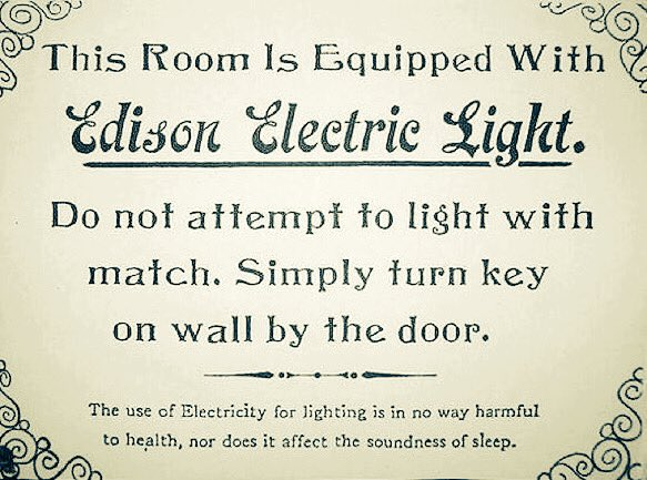 Do not attempt to light with match. Simply turn key on wall by the door.