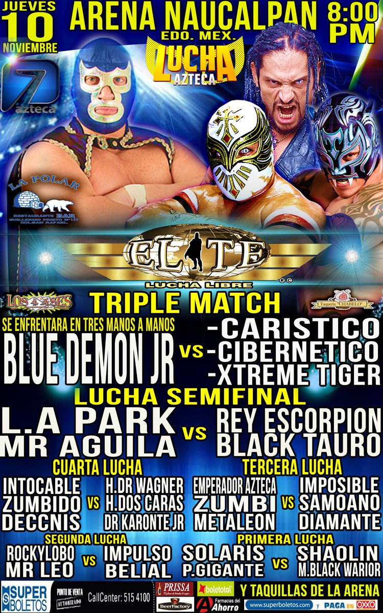 Liga Elite: Blue Demon en Triple Match – Infierno Azul 1