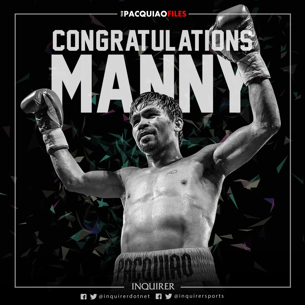 Pacquiao is the WBO welterweight champ anew! #PacVargas https://t.co/0HrSx6BiJL