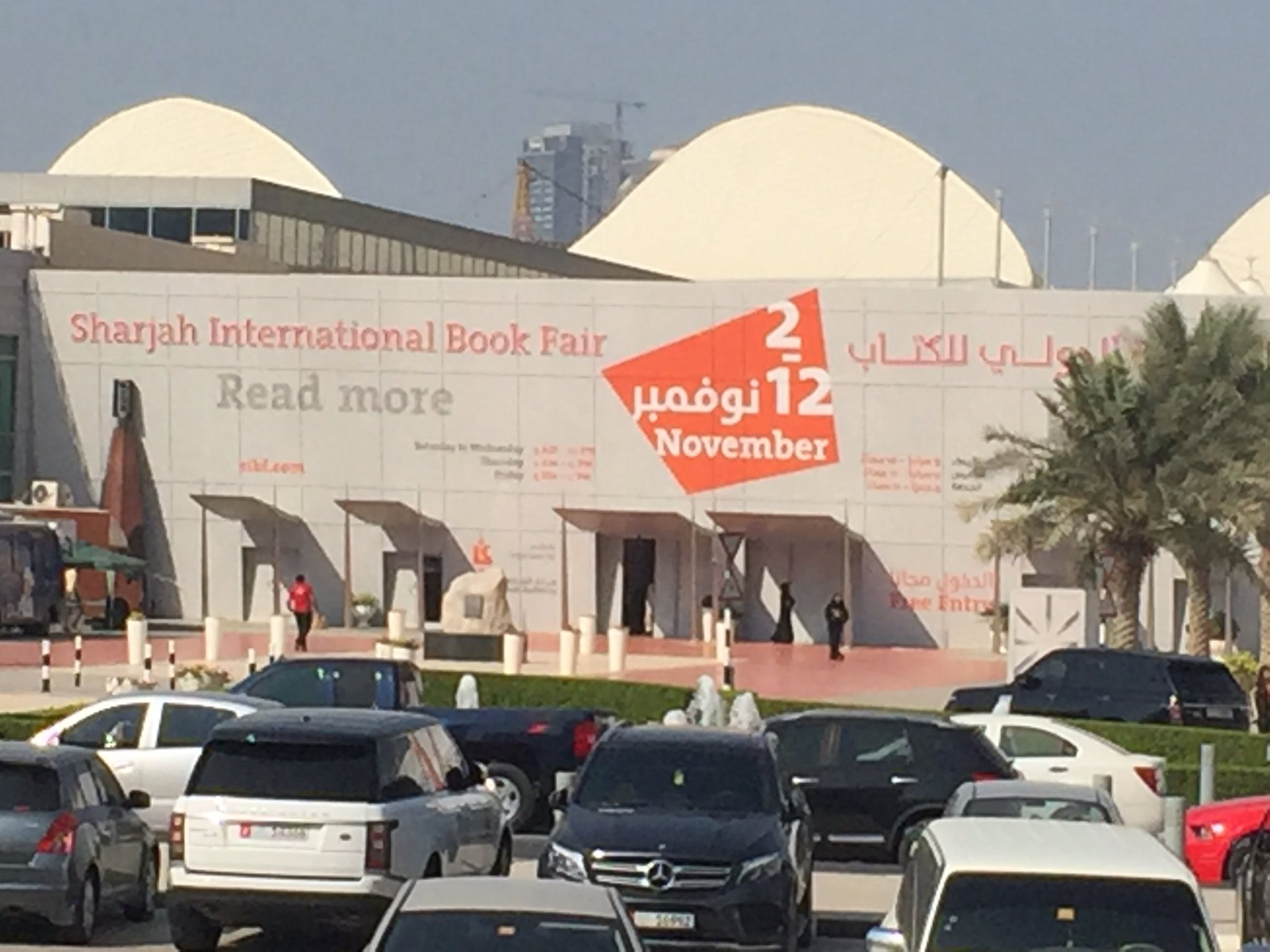 "Love the theme of this year's Sharjah Book Fest ""Read More"" #SIBFALA16 #ASKinUAE https://t.co/yroHMOtgOK"