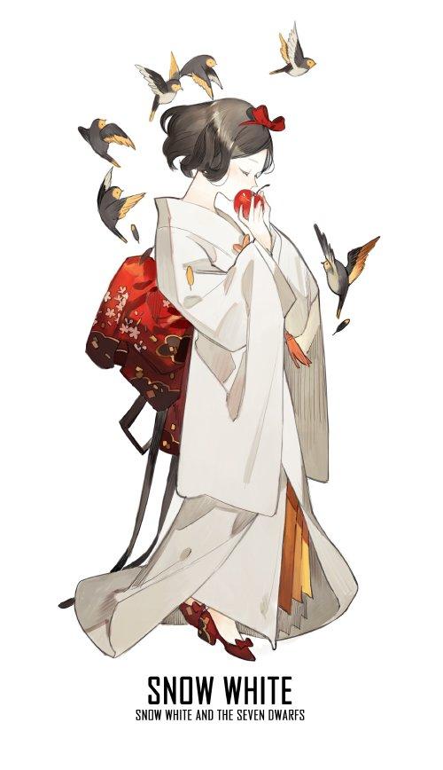 blancheneige en kimono