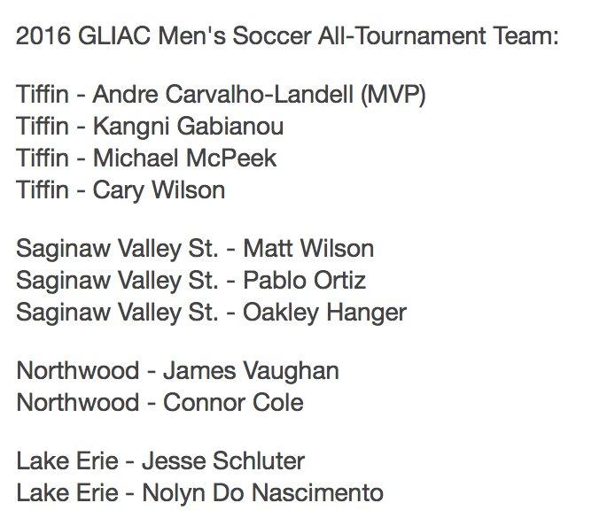 Gliac On Twitter 2016 Gliacmsoc All Tournament Team