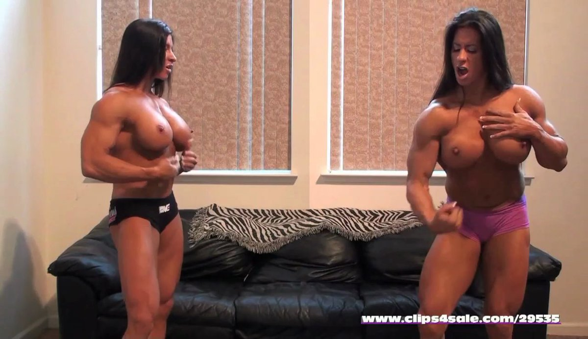 """Angela Salvagno Twitter muscle girl flix on twitter: """"battle of the twins! angela"""