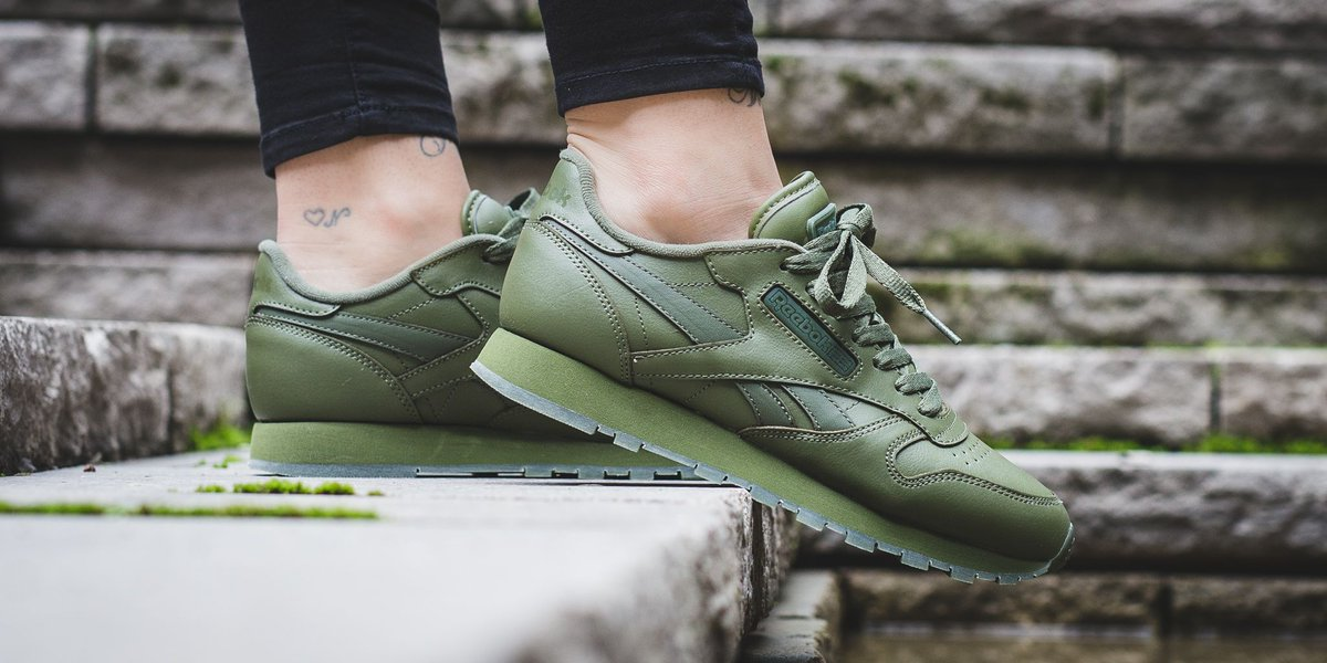 titolo on twitter restock reebok classic leather solids canopy green shop here httpstco4unl4sa8ul reebok classicleather - Green Canopy 2016