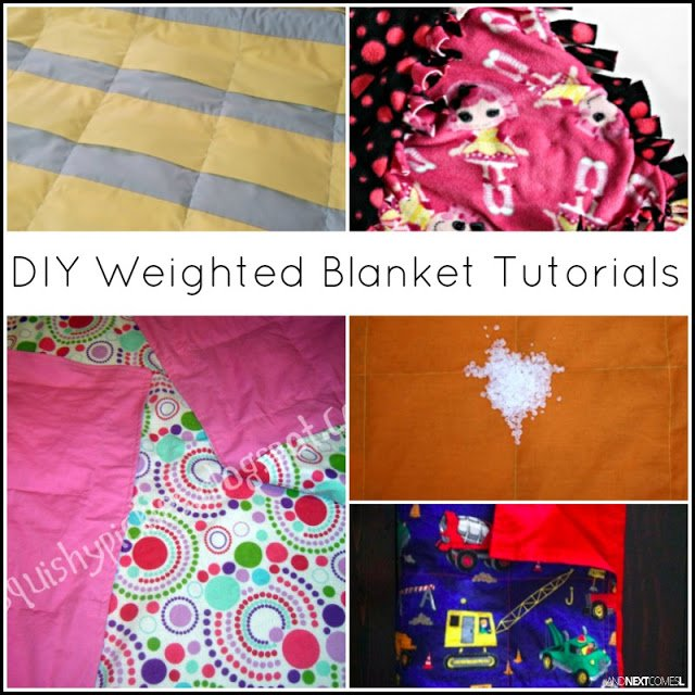 DIY weighted blanket tutorials homemade autism ASD sensory SPD