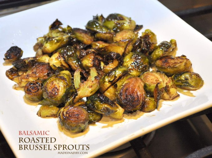 Oven Roasted Balsamic Brussels Sprouts recipe DIY