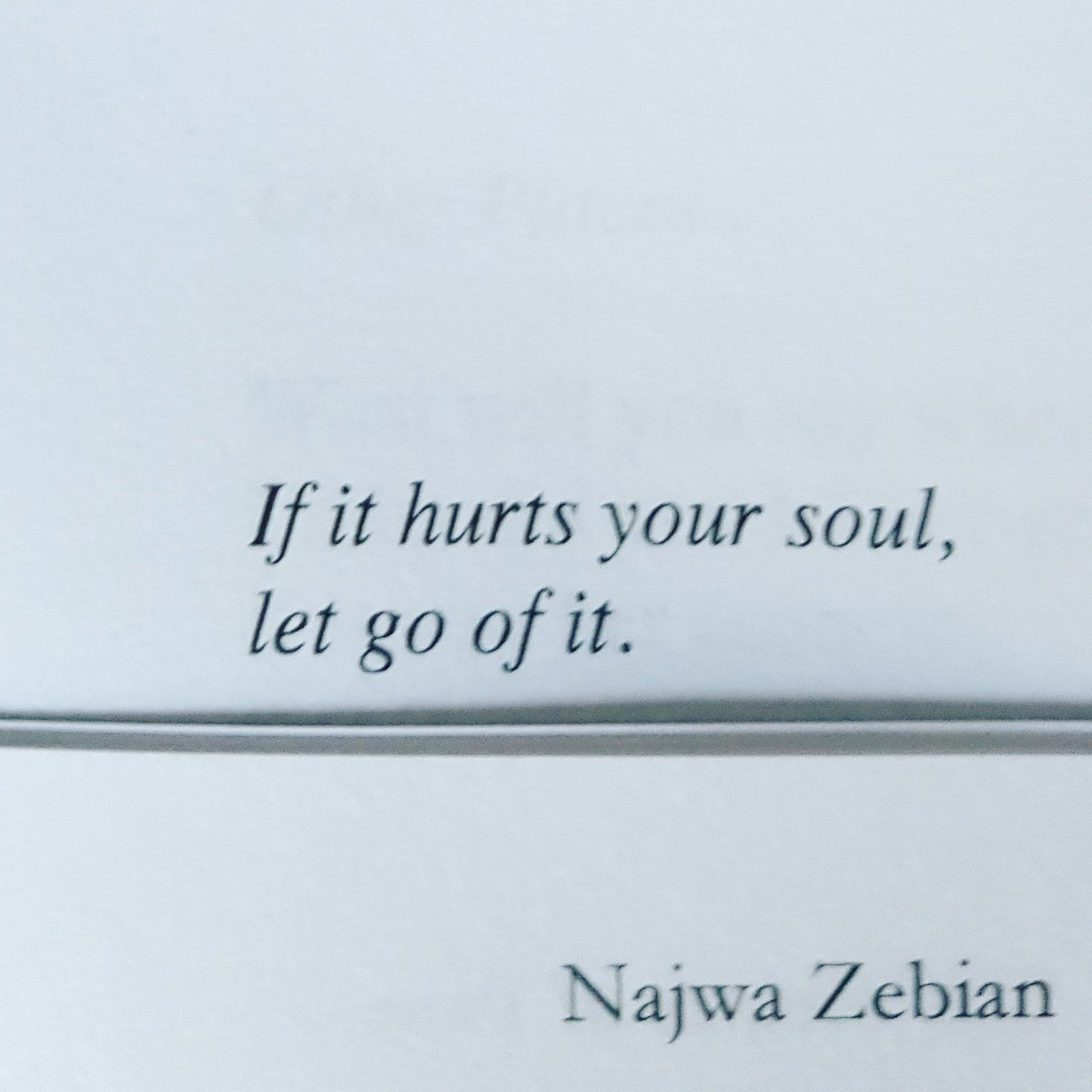 Letting go of hurt
